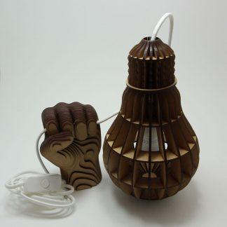Lustre ampoule avec applique