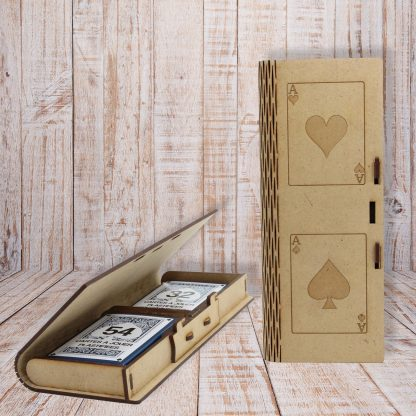 Double boite de jeux de cartes