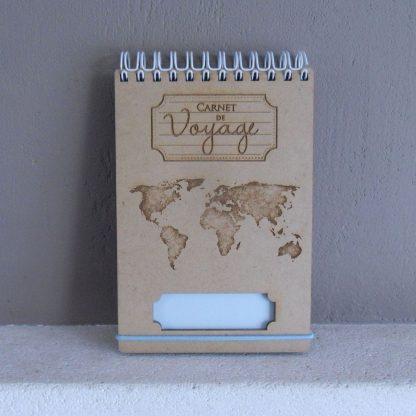 Petit Bloc notes de voyage gravé