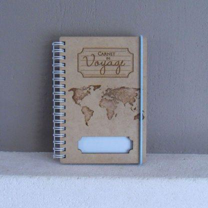 Petit carnet de voyage gravé