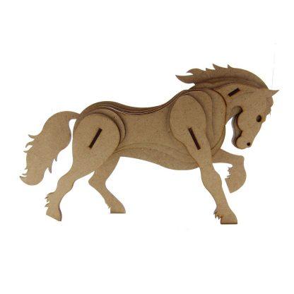 Kit cheval en bois pour la roulotte