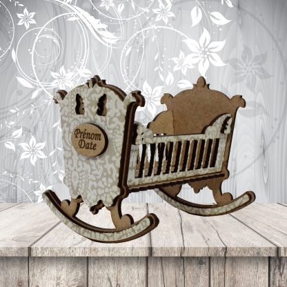 Berceau de bébé Beige/blanc nacré