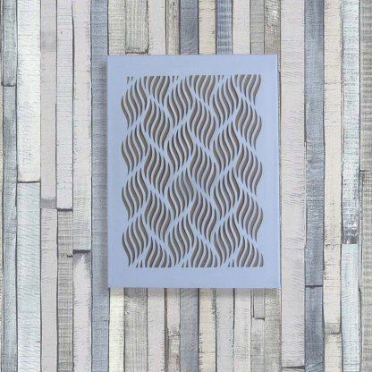 Toile découpée Haut. 40 cm motifs Vagues