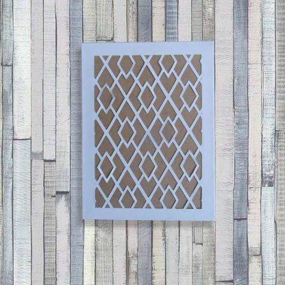 Toile découpée Haut. 40 cm motifs Chevrons