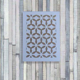 Toile découpée Haut. 40 cm motifs Fleurs