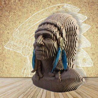 Grand buste d'indien